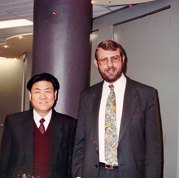 Here's one of our earlier experiences, with the Minister for Energy and Construction of the People's Republic of China, way back in August 1992